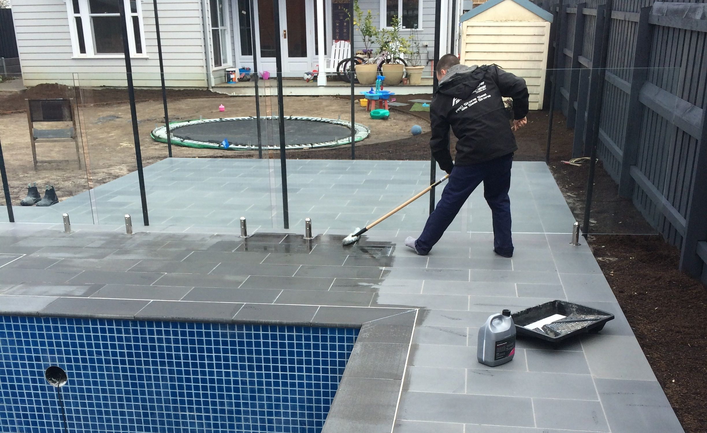 Prestige Surfaces Sealing Around Pool